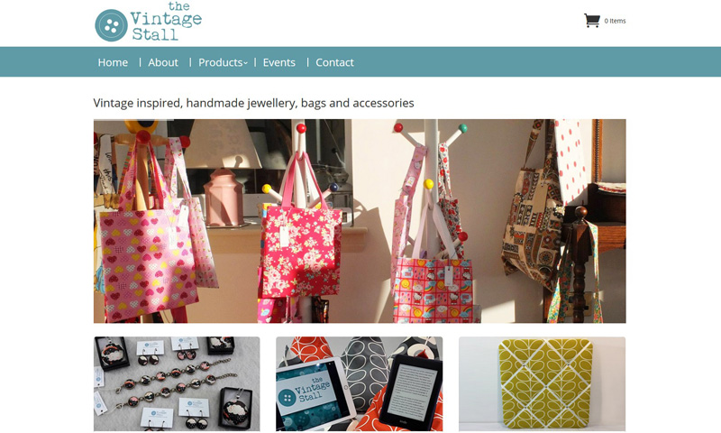 "New fully responsive CMS website launch for ""The Vintage Stall"""